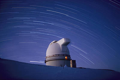 Time-exposure Of The Mauna Kea Print by Robert Madden