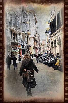 Time Warp In Malaga Print by Mary Machare