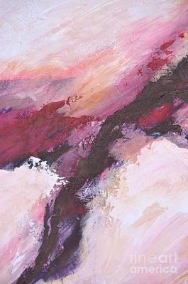 Time Warp Snow Storm Print by Barbara Tibbets