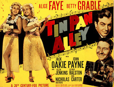 Posth Photograph - Tin Pan Alley, Alice Faye, Betty by Everett