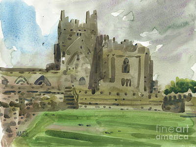 Abbey Painting - Tintern Abbey 2 by Donald Maier