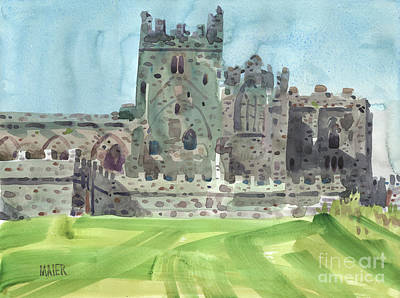 Abbey Painting - Tintern Abbey 4 by Donald Maier