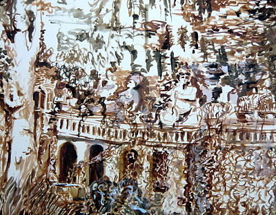 Tivili Fountains Print by Mindy Newman