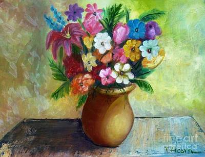 Mums Painting - To Mum With Love by Therese Alcorn
