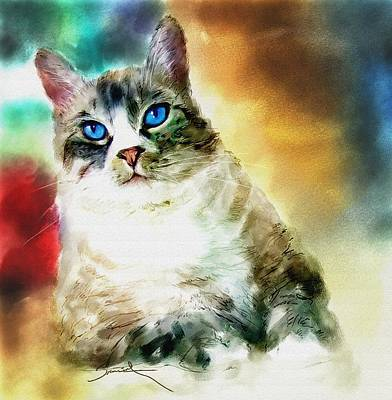 Toby The Cat Print by Robert Smith