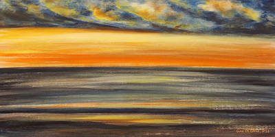 Today - Panoramic Sunset Print by Gina De Gorna