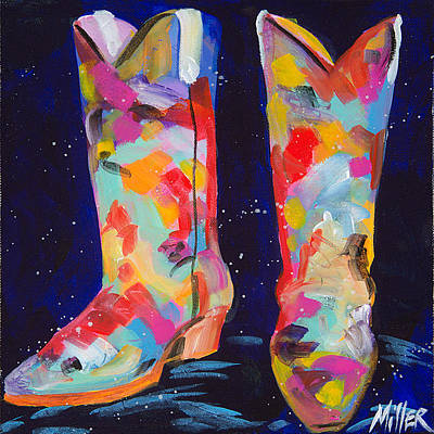 Contemporary Cowgirl Painting - Toe Tappin by Tracy Miller