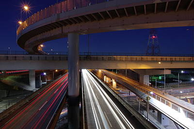 Built Structure Photograph - Tokai Jct At Night by Hama