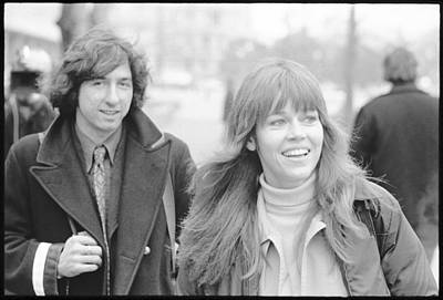 Anti-war Photograph - Tom Hayden And Jane Fonda by Jan Faul