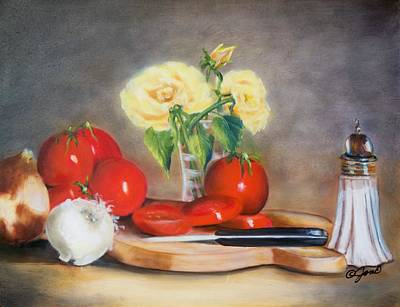 Rose Painting - Tomato Still Life by Joni McPherson