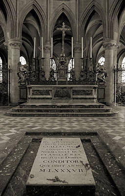 Caen Photograph - Tomb Of William The Conqueror by RicardMN Photography
