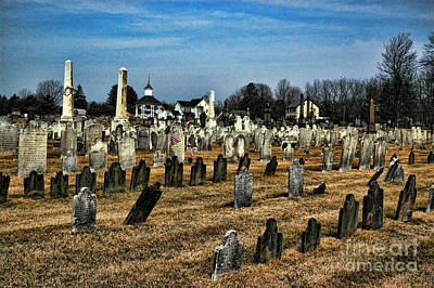 Final Resting Place Photograph - Tombstones by Paul Ward