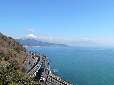 Tomei Expressway With Mt. Fuji Print by Bun Buku