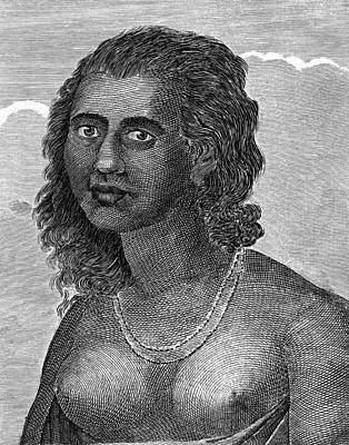 Bare Breasts Photograph - Tongan Woman, Artwork by Chris Hellier