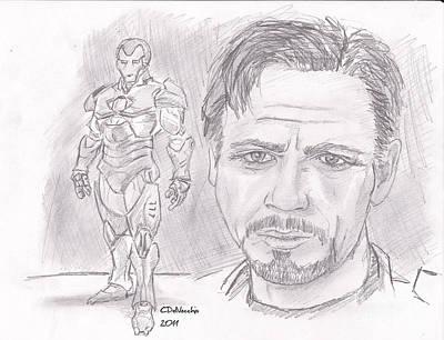 Tony Stark- Ironman Print by Chris  DelVecchio