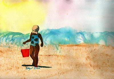 Baseball Cap Painting - Too Much Sun by Floyd  Hiser