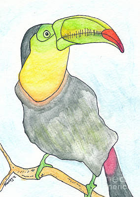 Toucan Drawing - Tooooouc by Michael Mooney