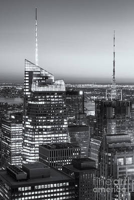 Top Of The Rock Twilight Vii Print by Clarence Holmes