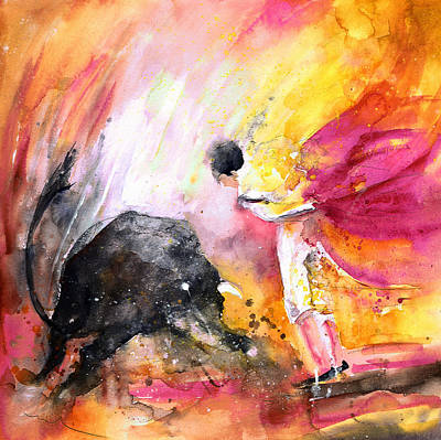 Spanish Matador Painting - Toroscape 54 Bis by Miki De Goodaboom
