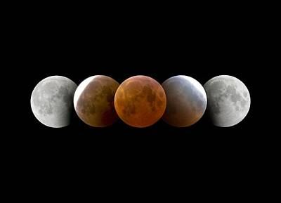 Moon Shadow 3 Photograph - Total Lunar Eclipse, Montage Image by Dr Juerg Alean