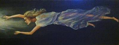 Near Death Experience Painting - Toward The White Light by Helen Wendle