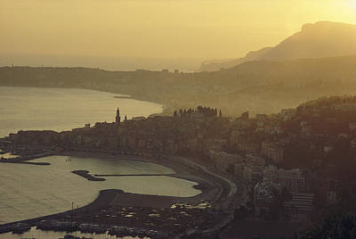 Menton Photograph - Town Of Menton, France by George F. Mobley