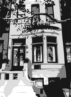 Townhouse Bw3 Print by Scott Kelley