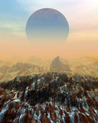 Toxic Planet Print by Victor Habbick Visions