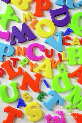 Toy Letters Print by Carlos Caetano