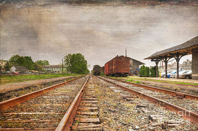Tracks By The Station Print by Paul Ward