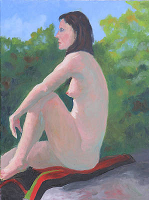 Outdoor Nude Painting - Tracy II by Robert P Hedden