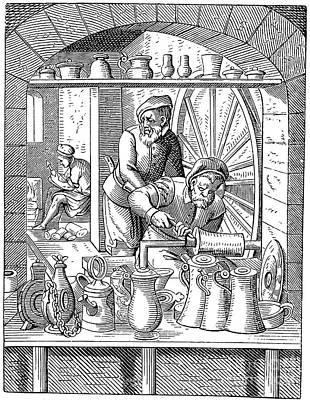 Trades: Pewterer Print by Granger