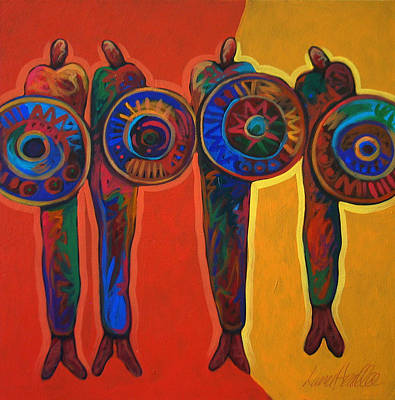 Native Painting - Trading Places by Lance Headlee