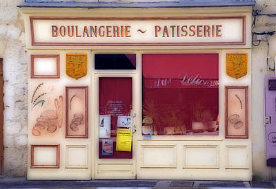 Traditional French Shop Print by Rod Jones