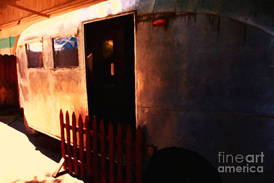 Trailer Park - Painterly - 5d16585 Print by Wingsdomain Art and Photography