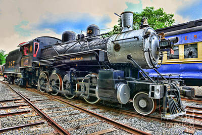 Train - Steam - 385 Fully Restored Print by Paul Ward