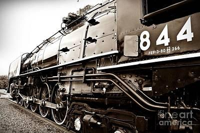 Train 844 Stopped Print by Joseph Porey