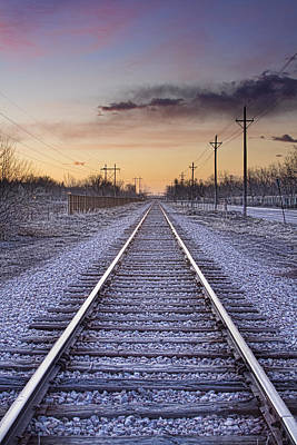 Train Photograph - Train Tracks And Color by James BO  Insogna