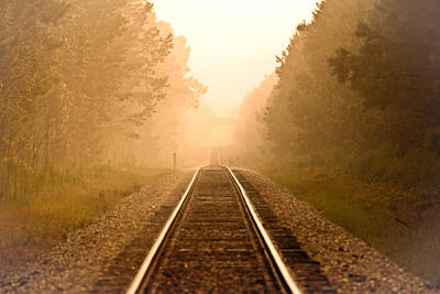 Y120817 Photograph - Train Tracks At Sunset by Daniela Duncan