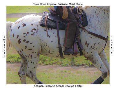 Horse Show Digital Art - Training by Betsy Knapp