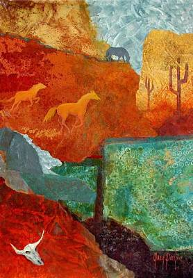 Steer Painting - Tranquil Search by Gary Partin