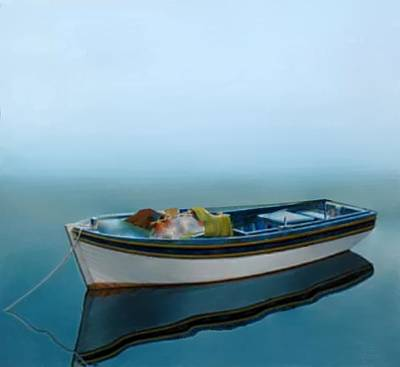 Sea Painting - Tranquility Of The Sea by Larry Cirigliano