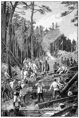Trans-siberian Railway Labourers, 1890s Print by