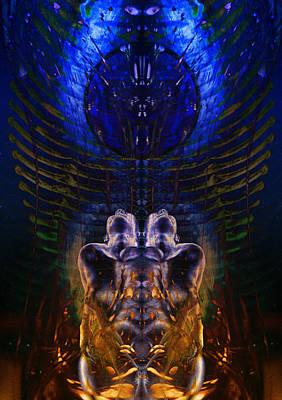 Transcend Digital Art - Transmutating Twins by David Kleinsasser