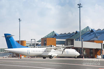 Transport Plane At The Airport Print by Jaak Nilson