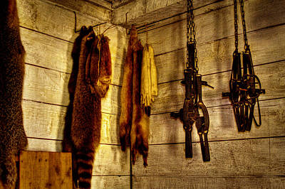 Artifacts Photograph - Trapper Supplies At The Store by David Patterson