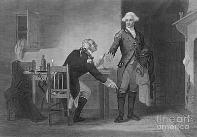 Accomplice Photograph - Treason Of Benedict Arnold, 1780 by Photo Researchers