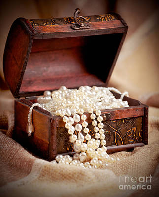 Wood Necklace Photograph - Treasure Chest by Gabriela Insuratelu