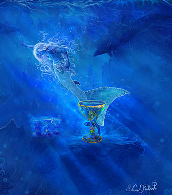 Atlantis Painting - Treasured Cups From Atlantis. by Steve Roberts