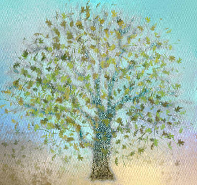 Tree In Autumn Print by Gina Lee Manley